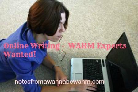 online writing -WAHM