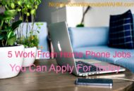 legitimate work at home phone jobs you can apply for today
