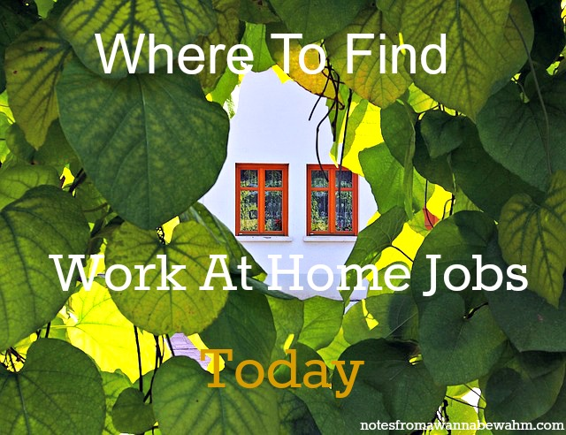 Best places to find work at home jobs today